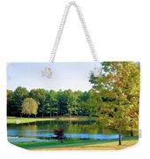 Tranquil Landscape At A Lake 6 Weekender Tote Bag