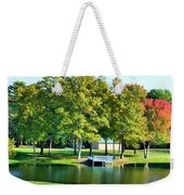 Tranquil Landscape At A Lake 8 Weekender Tote Bag
