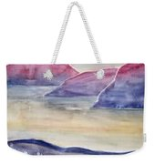 Tranquility 2 Mountain Modern Surreal Painting Print Weekender Tote Bag