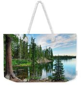 Tranquility - Twin Lakes In Mammoth Lakes California Weekender Tote Bag by Jamie Pham
