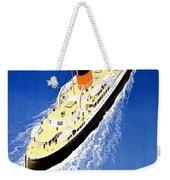 Transatlantic Ocean Liner Weekender Tote Bag