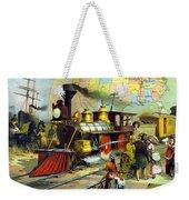 Transcontinental Railroad Weekender Tote Bag