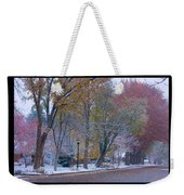 Transitions Autumn To Winter Snow Poster Weekender Tote Bag