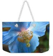 Translucent Blue Poppy Weekender Tote Bag by Carol Groenen