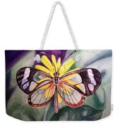 Transparent Butterfly Weekender Tote Bag
