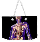 Transparent View Of Human Body Showing Weekender Tote Bag