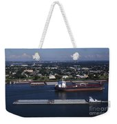 Transportation - Shipping On The Mississippi River Weekender Tote Bag