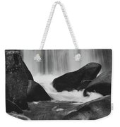 Trap Falls In Ashby Ma Black And White 6 Weekender Tote Bag