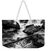 Trap Falls In Ashby Ma Black And White 9 Weekender Tote Bag