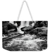 Trap Falls In Ashby Ma Black And White 1 Weekender Tote Bag