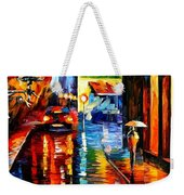 Trapped Inside Blue Rain Weekender Tote Bag