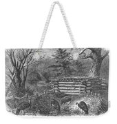 Trapping Wild Turkeys, 1868 Weekender Tote Bag