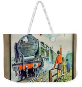 Travel By Train Weekender Tote Bag