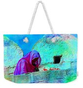 Travel Exotic Woman On Ramparts Mehrangarh Fort India Rajasthan 1e Weekender Tote Bag