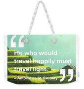 Travel Happy Weekender Tote Bag