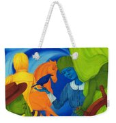 Travel In The Undefined Time. Weekender Tote Bag