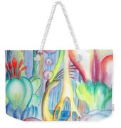 Travel To Planet Of Ball-shaped Flowers Weekender Tote Bag