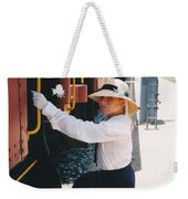 Traveling By Train Weekender Tote Bag