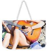 Traveling Musician Weekender Tote Bag