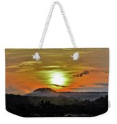 Traveling Sunrise Weekender Tote Bag