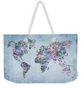 Traveler World Map Weekender Tote Bag