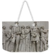 Travis And Crockett On Alamo Monument Weekender Tote Bag