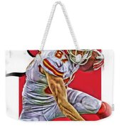 Travis Kelce Kansas City Chiefs Oil Art Weekender Tote Bag