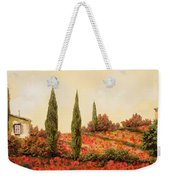 Tre Case Tra I Papaveri Weekender Tote Bag by Guido Borelli