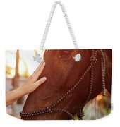 Treating From Depression With The Help Of A Horse Weekender Tote Bag