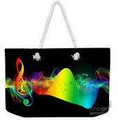 Treble Clef In Motion Weekender Tote Bag