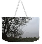Tree And Moored Boat Weekender Tote Bag