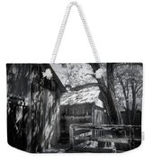 Tree And The Barn Weekender Tote Bag