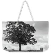 Tree And The Cage Tower In The Distance In Lyme Park Estate In B Weekender Tote Bag