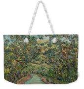 Tree Arched Road Weekender Tote Bag