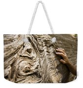 Tree Bark And Hand Weekender Tote Bag