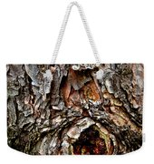 Tree Bark With Knothole Weekender Tote Bag
