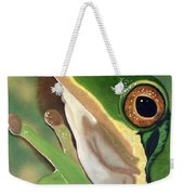 Tree Frog Eyes Weekender Tote Bag
