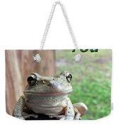 Tree Frog Thank You Weekender Tote Bag