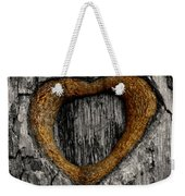 Tree Graffiti Heart Weekender Tote Bag