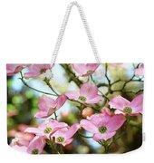 Tree Landscape Pink Dogwood Flowers Baslee Troutman Weekender Tote Bag