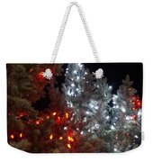 Tree Lights Weekender Tote Bag