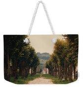 Tree Lined Pathway In Lyon France Weekender Tote Bag