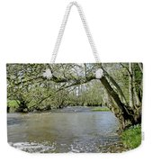 Tree-lined - Swollen River Dove At Thorpe Weekender Tote Bag