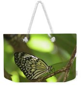 Tree Nymph Butterfly Sitting On A Tree Branch Weekender Tote Bag