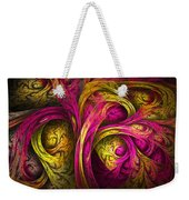 Tree Of Life In Pink And Yellow Weekender Tote Bag