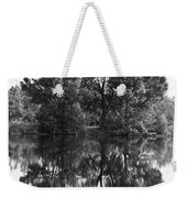 Tree Reflection In Black And White Weekender Tote Bag