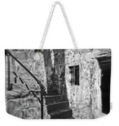 Tree Shadow , Doors And Stairs At The Elder Battery At Fort Delaware Weekender Tote Bag
