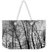 Tree Silhouette Bw Weekender Tote Bag