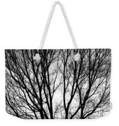 Tree Silhouettes In Black And White Weekender Tote Bag