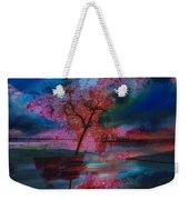 Tree Splat Fragmented Weekender Tote Bag